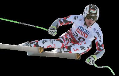 Hannes Reichelt mitten im Rennen