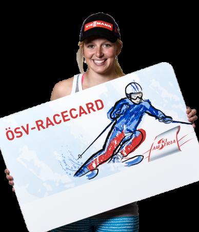Lisa Theresa Hauser mit der ÖSV-RaceCard