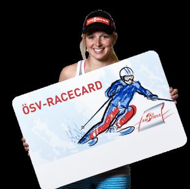 Lisa Hauser mit der ÖSV-RaceCard.