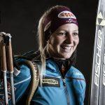 Lisa Theresa Hauser, im Bild mit voller Biathlon-Ausrüstung