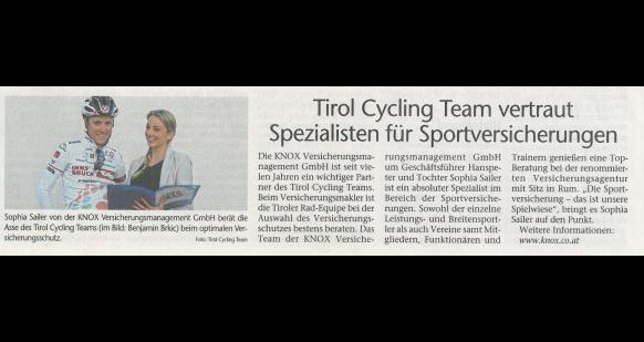 2017-04-06 Tiroler Tageszeitung Tirol Cycling Team