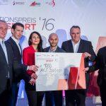 AKUT Sportverein bei Übergabe des Integrationspreises 2016