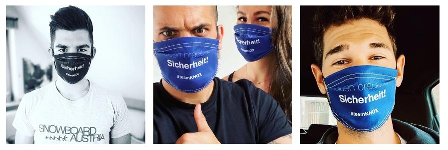 Team KNOX: rauf mit den Masken!
